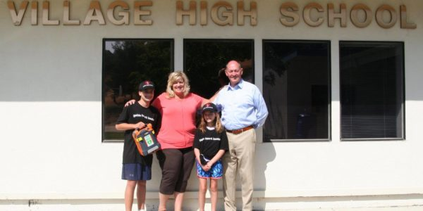 AED Donated to Village High School in Pleasanton