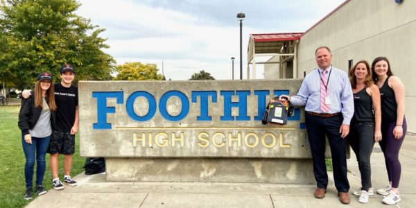 AED Donated To Foothill High School