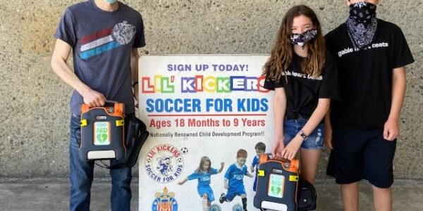 AED Donated To East Bay Sports Livermore and San Ramon